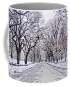 Central Park Mall In Winter Coffee Mug