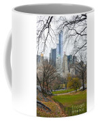 Central Park South Buildings From Central Park Coffee Mug