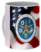 Central Security Service - C S S Emblem Over American Flag Coffee Mug