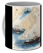 Centurion Trawl Fishing Boat Nautical Chart Art Coffee Mug