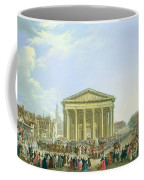 Ceremony Of Laying The First Stone Of The New Church Of St. Genevieve In 1763, 1764 Oil On Canvas Coffee Mug