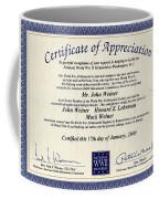 Certificate Of Appreciation Coffee Mug