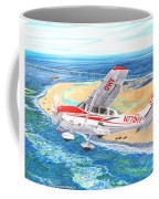 Cessna 206 Flying Over The Outer Banks Coffee Mug