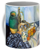Cezanne Still Life With Apples In Watercolor Coffee Mug