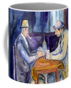 Cezannes The Card Players In Watercolor Coffee Mug