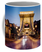Chain Bridge In Budapest At Night Coffee Mug