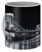 Chain Bridge Night Bw Coffee Mug