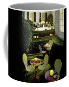 Chairs And Tables In A Garden Coffee Mug