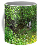 Chairs By The Creek In Summer Coffee Mug