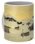 Chalets In Snow Coffee Mug