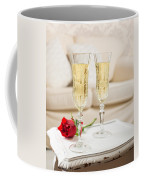 Champagne And Rose Coffee Mug