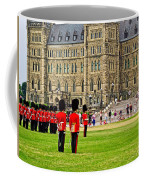 Changing Of The Guard In Front Of Parliament Building In Ottawa- Coffee Mug