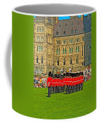 Changing Of The Guard In Front Of The Parliament Building In Ottawa-on Coffee Mug