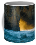 Chaos - Pfeiffer Beach Coffee Mug by George Buxbaum