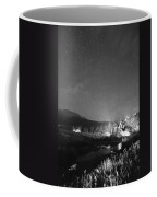 Chapel On The Rock Stary Night Portrait Bw Coffee Mug