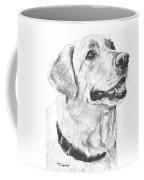 Charcoal Drawing Yellow Lab In Profile Coffee Mug