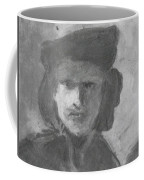 Charcoal Study Of Rembrandt  Self-portrait With Velvet Beret Coffee Mug