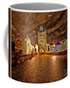 Charles Bridge At Night Coffee Mug by Madeline Ellis
