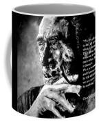 Charles Bukowski Coffee Mug by Richard Tito