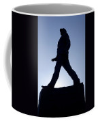 Charles De Gaulle Statue Silhouette On The Champs Elysees In Paris France Coffee Mug
