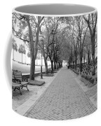 Charleston Waterfront Park Walkway - Black And White Coffee Mug