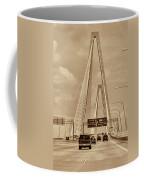 Charleston's Magnificent Cable Bridge In Sepia Coffee Mug