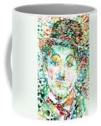 Charlie Chaplin - Watercolor Portrait Coffee Mug