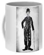 Charlie Chaplin Typography Poster Coffee Mug by Ayse Deniz