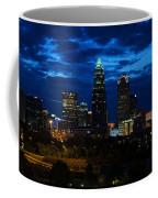 Charlotte North Carolina Panoramic Image Coffee Mug by Chris Flees