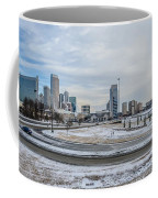 Charlotte North Carolina Skyline In Winter Coffee Mug
