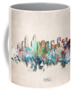 Charlotte Painted City Skyline Coffee Mug by World Art Prints And Designs