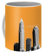 Charlotte Skyline 2 - Orange Coffee Mug