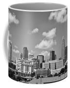 Charlotte Skyline In Black And White Coffee Mug
