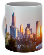 Charlotte Skyline In The Evening Before Sunset Coffee Mug