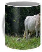 Charolais Cow And Calf In Field Coffee Mug