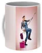 Charwoman On Pink Coffee Mug