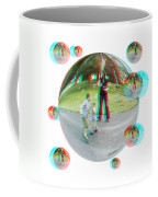 Chasing Bubbles - Red/cyan Filtered 3d Glasses Required Coffee Mug