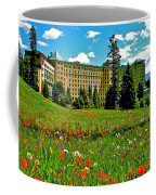 Chateau Lake Louise In Banff Np-alberta Coffee Mug