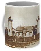 Chatham Twin Lights 1908-18 Coffee Mug by Skip Willits