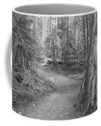 Cheakamus Trail In Black And White Coffee Mug
