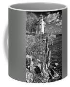 Cheboygan Lighthouse Bw Coffee Mug
