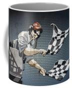 Checkered Flag Grunge Color Coffee Mug by Frank Ramspott