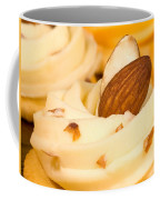 Cheddar Cheese On Crackers With Almonds Coffee Mug
