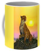 Cheetah And Cubs Coffee Mug by MGL Studio - Chris Hiett