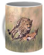 Cheetah And Gazelle Painting Coffee Mug
