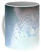 Cheetah Visits The Camp At Night Coffee Mug