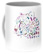 Cheetah Watercolor - White Coffee Mug