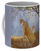 Cheetah With Cub Coffee Mug