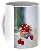 Cherries Coffee Mug by Irina Sztukowski