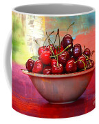 Cherries On The Table With Textures Coffee Mug